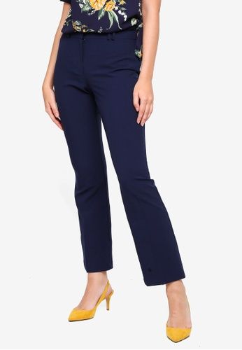 bd40552b616c6 Dorothy Perkins navy Short Navy Bootcut Trousers A678BAAB47B99BGS 1