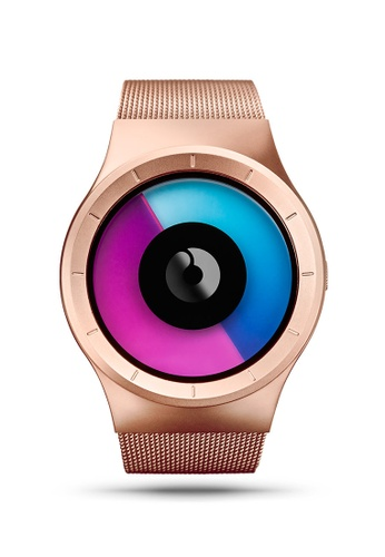ZIIIRO pink and blue and gold Celeste Rose Gold Watch 3DEB6ACE9639B0GS_1