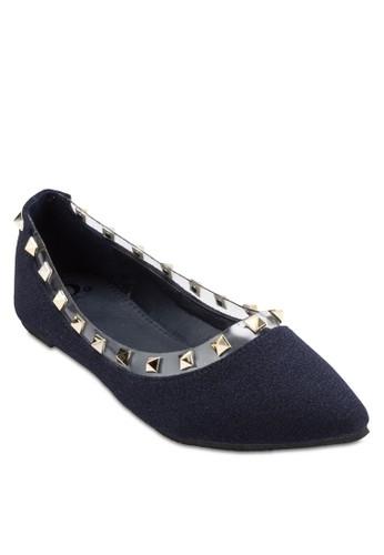 鉚釘平底esprit hk鞋, 女鞋, 芭蕾平底鞋