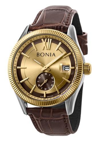 BONIA brown Bonia B10365-1323 - Jam Tangan Pria - Brown Gold E7317ACC6A2721GS_1