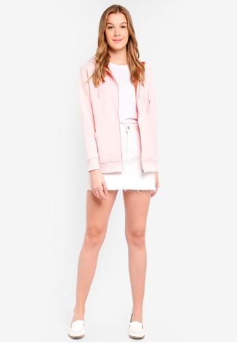 Calvin Klein pink and multi Calvin Zip Up Hoodie - Calvin Klein Jeans 27928AA64532DFGS_1