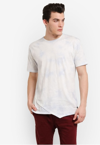 Factorie white and blue Shaded Angle Tee FA880AA0RH2UMY_1