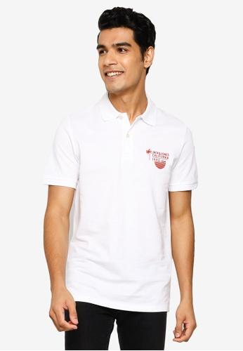 Jack & Jones white Kaipo Short Sleeve Polo Shirt 6EE77AADD1C860GS_1