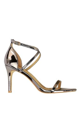 Twenty Eight Shoes grey Shiny Cross Straps Evening Sandals VP126A8 961E5SHFB73DA4GS_1