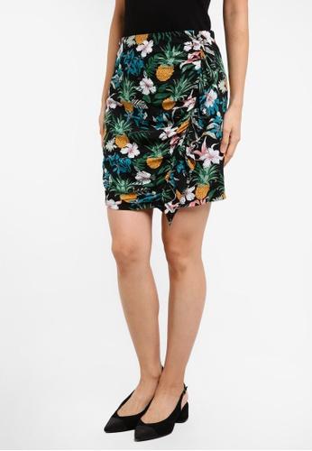 ZALORA black Ruffle Mini Skirt C865AAA1A7FBABGS_1
