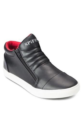 側拉鍊高筒運動鞋,esprit outlet 家樂福 鞋, 鞋