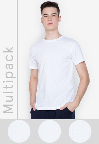 Hanes white 3-Pack Easy Fit R/Neck 0F5C4US688CCFDGS_1