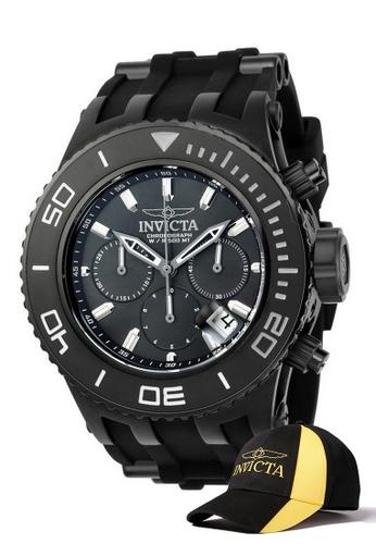 INVICTA black Invicta Subaqua Men 52mm Case Stainless Steel, Polyurethane Strap Dial Quartz Watch 22367 w/ Cap 9FE2EACB1ECFFCGS_1