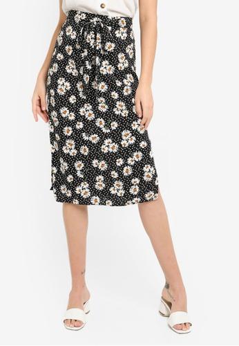 cc5d7c95f9 Buy Dorothy Perkins Daisy Spot Tie Midi Skirt | ZALORA HK