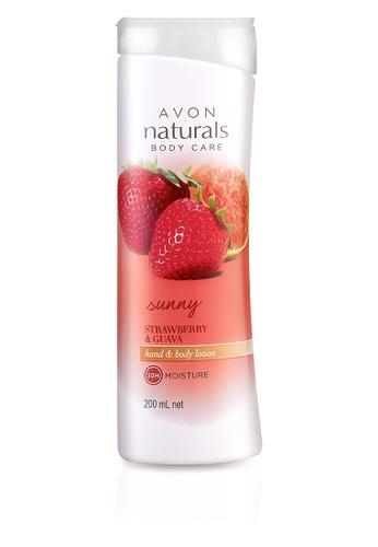 Avon n/a Naturals Sunny Strawberry & Guava Hand & Body Lotion 200 mL AV454BE66REZPH_1