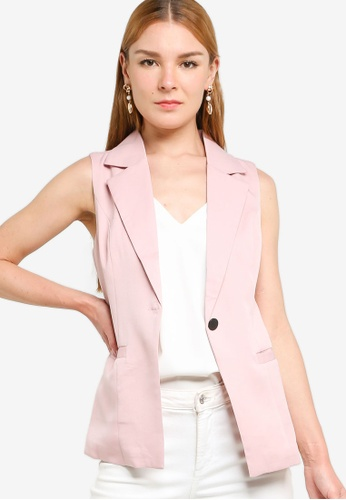 ZALORA WORK pink Tailored Waistcoat 45A4CAA5AEE8C1GS_1