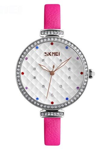 Digitec pink Skmei - Jam Tangan Wanita - Silver - Pink Leather Strap - 9142-D 8336FACD4229AFGS_1