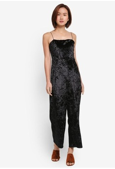 c1382d912fa Psst... we have already received your request. MDSCollections. Crushed  Velvet Jumpsuit ...
