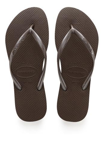 Havaianas brown Slim Flip Flops 422BESHBFB21E3GS_1