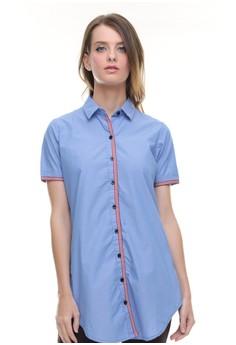 LGS blue LGS - Regular Fit - Kemeja Wanita - Dress - Kancing Warna - Biru 108469ebde