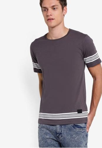 Flesh IMP grey Fence T-Shirt FL064AA95DBGMY_1