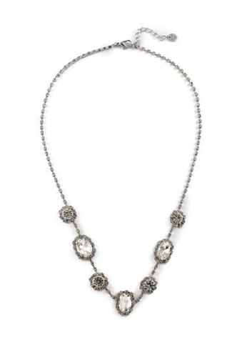 My Flash Trash silver Vintage Diamante Necklace B5DCEAC1A5D76FGS_1