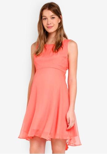 Pietro Brunelli Milano pink Tamigi Occasion Maternity Dress 5D99FAA0B0F8BEGS_1