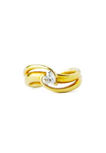 CEBUANA LHUILLIER JEWELRY gold 18 Karat Yellow Gold Lady Ring With Diamond B4F4BAC44532E8GS_1