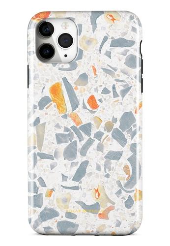 Polar Polar grey Terrazzo Grey Dual-Layer Tough Case Glossy For iPhone 11 Pro Max 52FC1AC5FA7D13GS_1