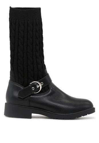 London Rag 黑色 黑色中筒靴 SH1690 99CABSH91D8A8EGS_1