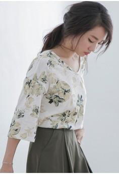 Floral Retro Cotton Top