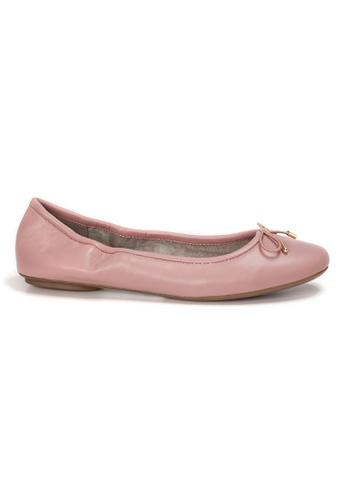 Shu Talk 粉紅色 AMAZTEP 全新貼腳柔軟真皮芭蕾舞鞋 B5730SHAF386B9GS_1