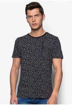 Zip Tape Ditzy Print T-Shirt