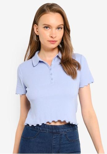 Hollister purple Fashion Polo Shirt AC0D5AA5926203GS_1