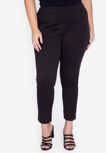 Maxine black Plus Size Skinny Stretch Pants 9648EAA1C85A91GS_1