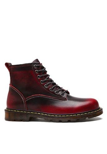 Twenty Eight Shoes 紅色 時尚皮革中筒靴 VMB89027 0D3A6SH58D5369GS_1