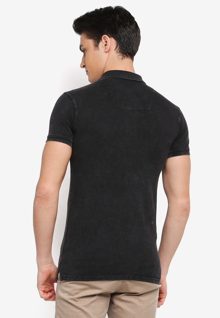 Abbortsford Shirt Jeans Indicode Washed Black Polo wAH18