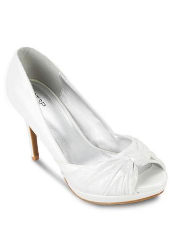 esprit地址蝴蝶結露趾高跟鞋, 女鞋, 厚底高跟鞋