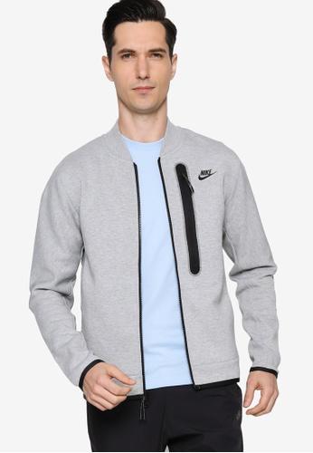 Nike grey Men's Sportswear Tech Fleece Bomber E92F3AA0BB64E5GS_1