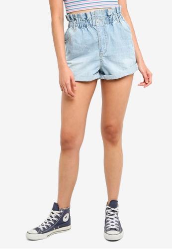 Supre blue The Huntington Ruffle Waist Shorts 93EA0AA9CF683EGS_1