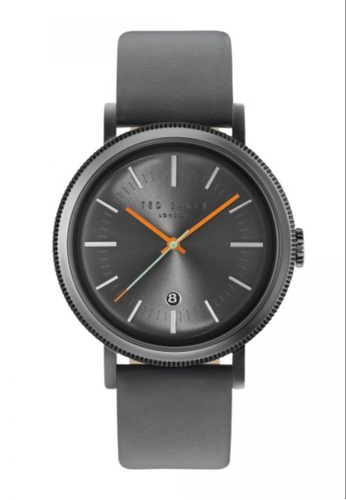 TED BAKER black and grey Ted Baker Men's 10031507 Connor Grey Dial Black Leather Strap  Analog Watch 78B8FAC8A4E3A6GS_1