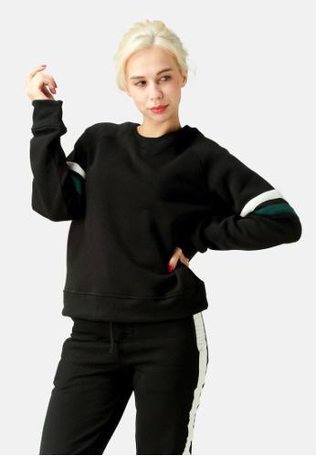 London Rag black Crew Neck Sweatshirt BA23AAA059DAE6GS_1