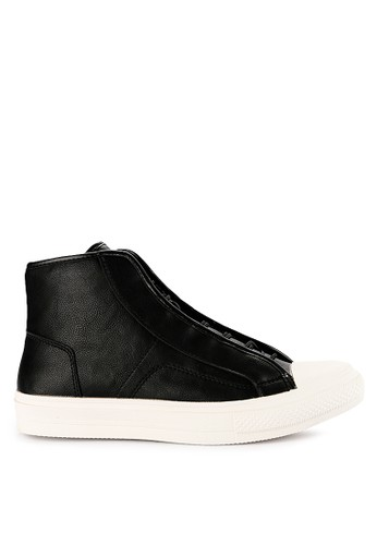 Urban State black Drawstring Lace Up High Top Sneakers 9959DSH479BA55GS_1