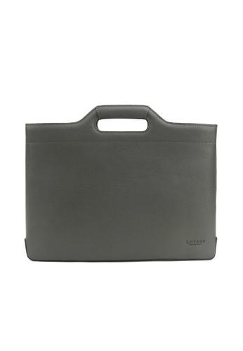 Kawamura grey Lotuff Briefcase & Tote bag - Grey KA871AC30FVHHK_1