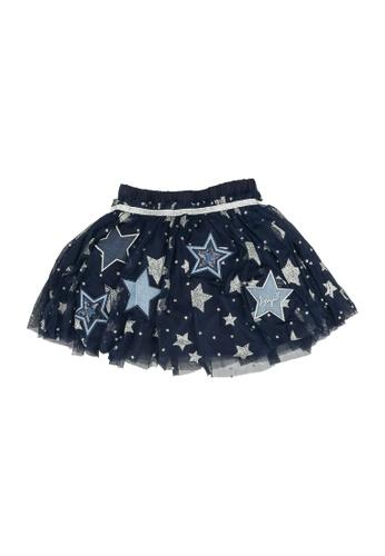 Desigual navy Star Tulle Skirt 84E54KAA89E0E5GS_1