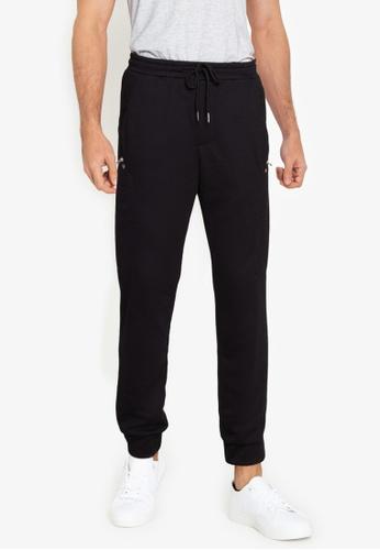 ZALORA BASICS black Side Zip Track Pants 32209AACDB964CGS_1