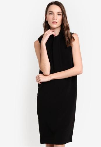 繫帶領正esprit 門市裝連身裙, 服飾, 洋裝