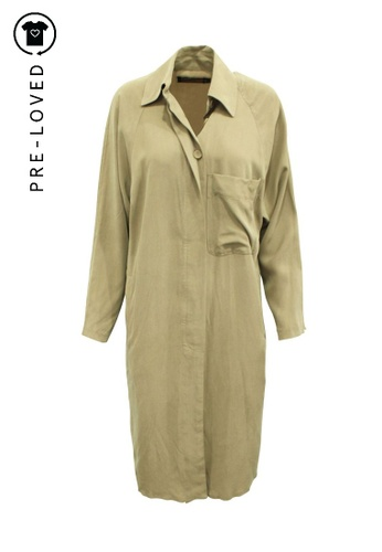 Reformation green Pre-Loved reformation Khaki Coat 26FB6AA805EB50GS_1
