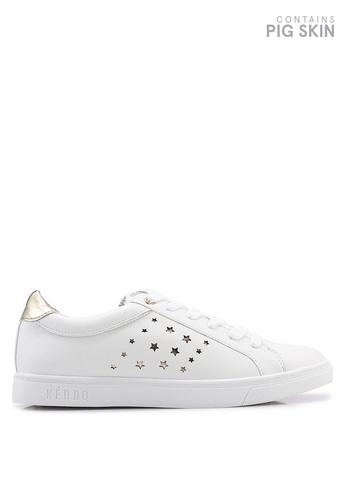 Keddo 白色 雕紋運動鞋 72C88SHF0CF00EGS_1