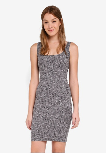 Cotton On grey Kimi Scooped Bodycon Midi Dress 2DD40AA5C7BE33GS_1