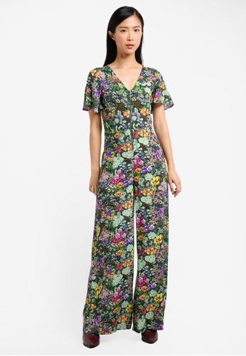Mango green Floral Print Jumpsuit MA193AA0RXTJMY_1