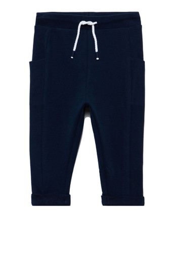 OVS blue Pockets Joggers A221EKACBE8F03GS_1