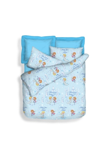 Eurotex Disney Microluxe 900 Thread Count, Fitted Sheet Set, Magic Frozen. 0B9F1HL067DF5BGS_1