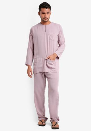 Lubna pink Baju Melayu Teluk Belanga 82030AAB5894FFGS_1