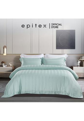 Epitex green Epitex XH5810 Tencel 1000TC Printed Bedsheet - Fitted Sheet Set - Bedding Set (w/o quilt cover) - Mist 9AC21HLA797B92GS_1